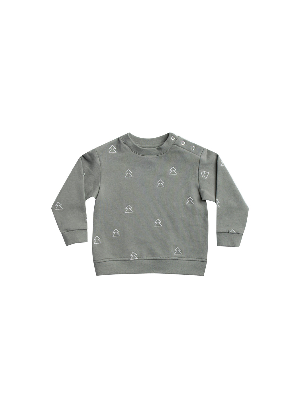 Quincy Mae fleece basic sweatshirt - eucalyptus