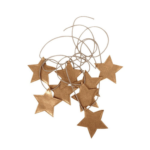 Star garland in gold