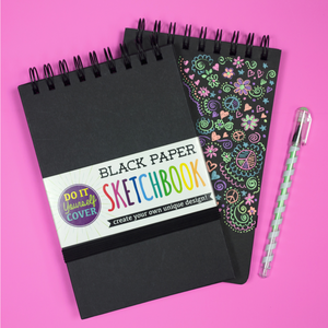 DIY cover sketchbook - small black paper
