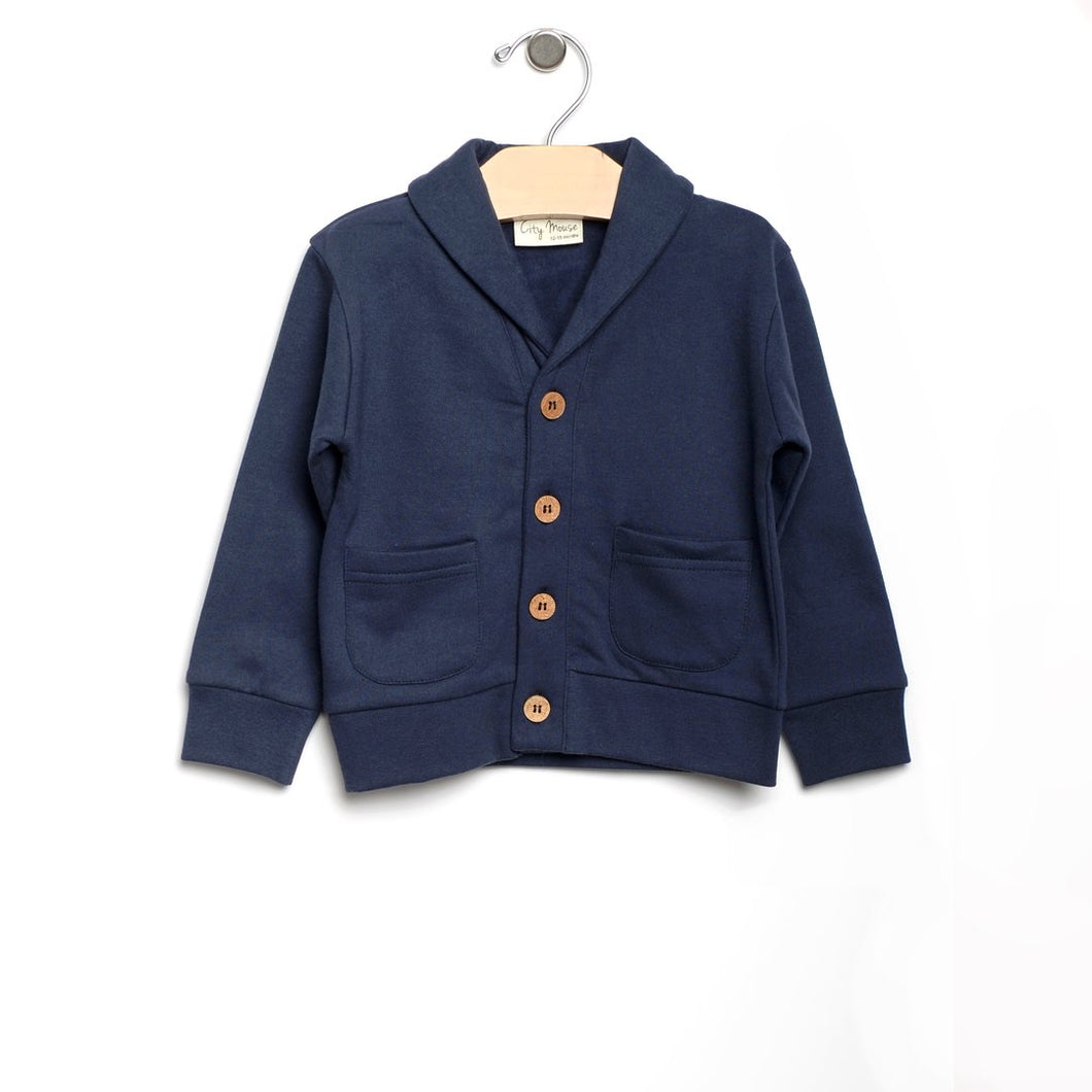 Shawl collar cardigan - midnight blue