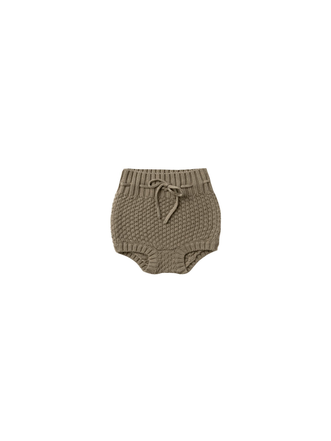 Quincy Mae knit tie bloomer - olive