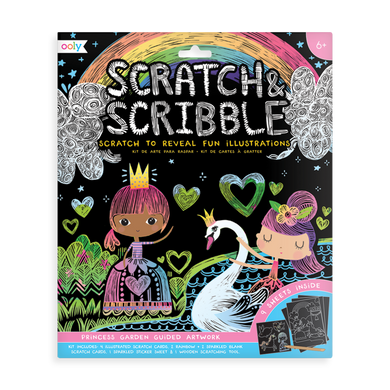 Scratch & scribble art kit - princess garden