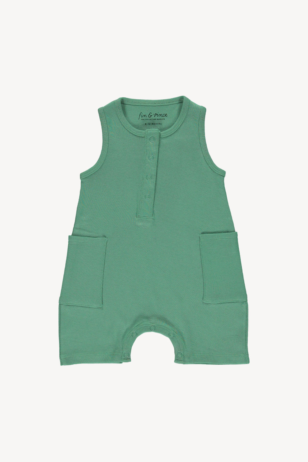 Short jumpsuit - school house green