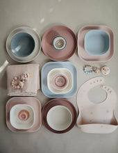 Load image into Gallery viewer, Square dinnerware bowls, set of 2 - blush