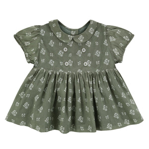 Isabella blouse - seedum green floral