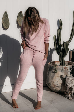 Mama knit pants - light pink