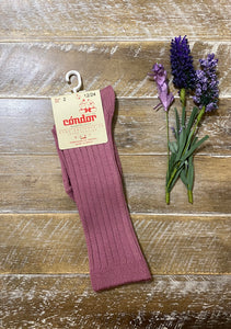 Cassis ribbed cotton knee sock