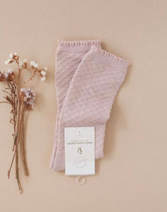 Picnic knee high socks - rose blush