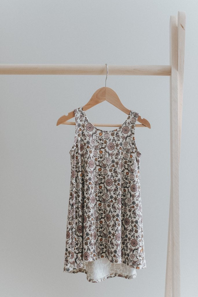 Cross back dress - floral