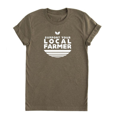 Local farmer unisex fit short sleeve adult tee