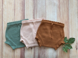 Fin & Vince knit shortie bloomers - blossom