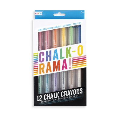 Chalk-o-rama dustless chalk crayons
