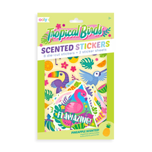 Load image into Gallery viewer, Tropical birds scented stickers