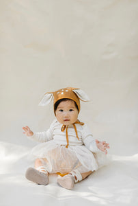 Briar wool animal bonnet - fawn
