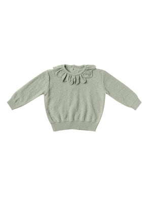 Quincy Mae petal knit sweater - sage