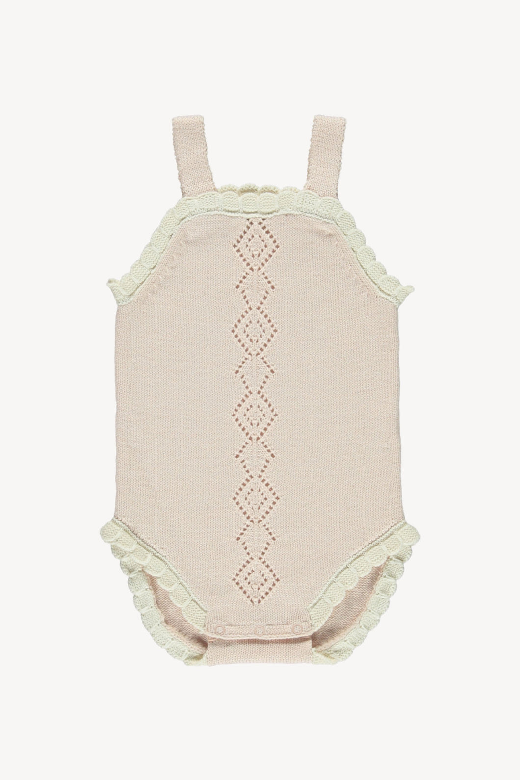 Scallop onesie - blush