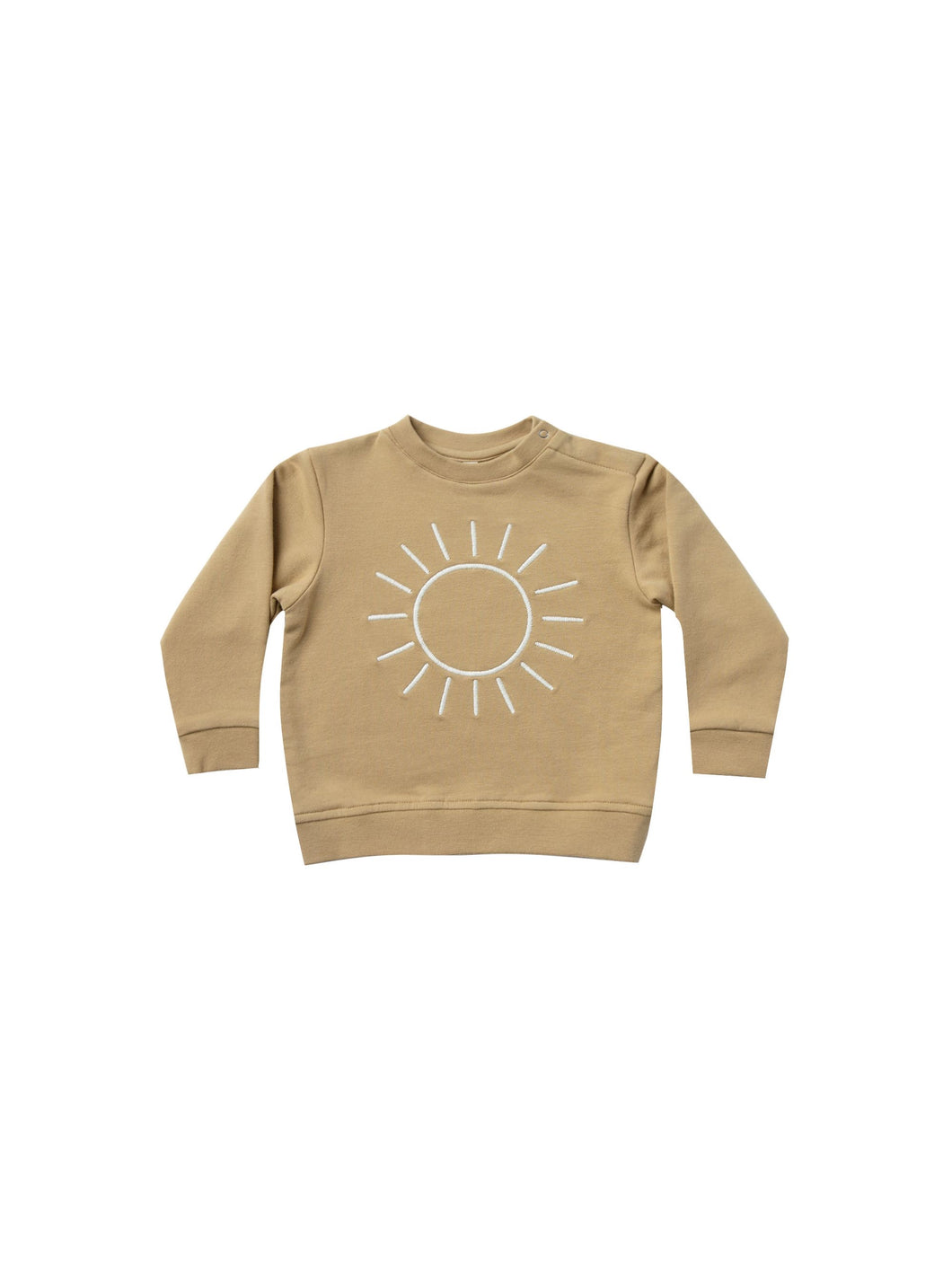 Quincy Mae fleece basic sweatshirt - honey