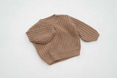 Chunky knit jumper - chocolate