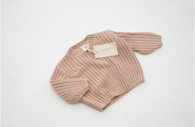 Chunky knit jumper - strawberry