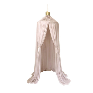 Dreamy canopy in champagne with gold crown