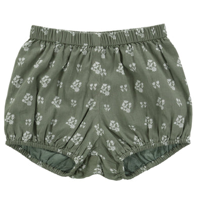 Poppy bloomers - seedum green floral