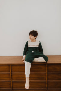 Fin & Vince colorblock pullover - pine