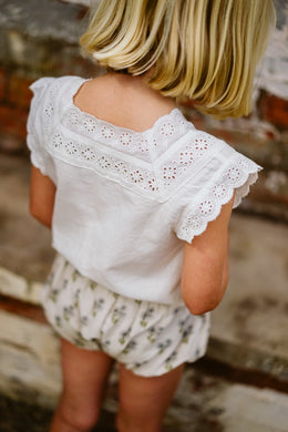 Clementine vintage lace blouse - off-white