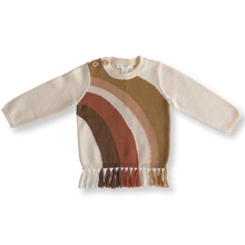 Load image into Gallery viewer, Rainbow fringe pullover