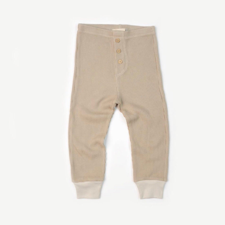 Fin & Vince waffle button pant - oatmeal