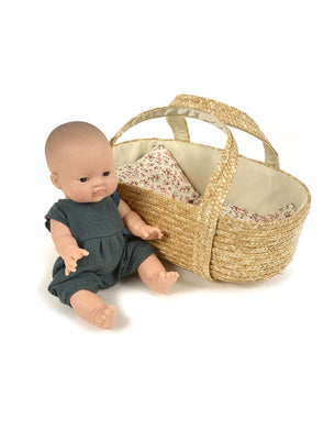 Braided doll basket carrier