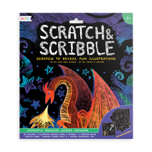 Load image into Gallery viewer, Scratch & scribble - Fantastic Dragons
