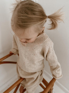 Mini knit jumper - oat