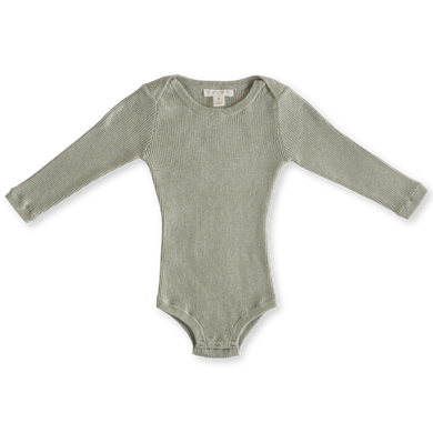 Ribbed bodysuit - seagrass