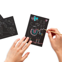 Load image into Gallery viewer, Mini scratch & scribble art kit - Funtastic Friends