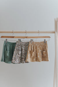 Pocket skirt - green