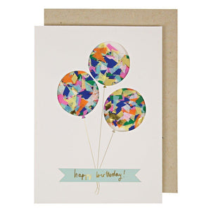 Balloon confetti shaker card