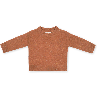 Speckled merino pullover - clay