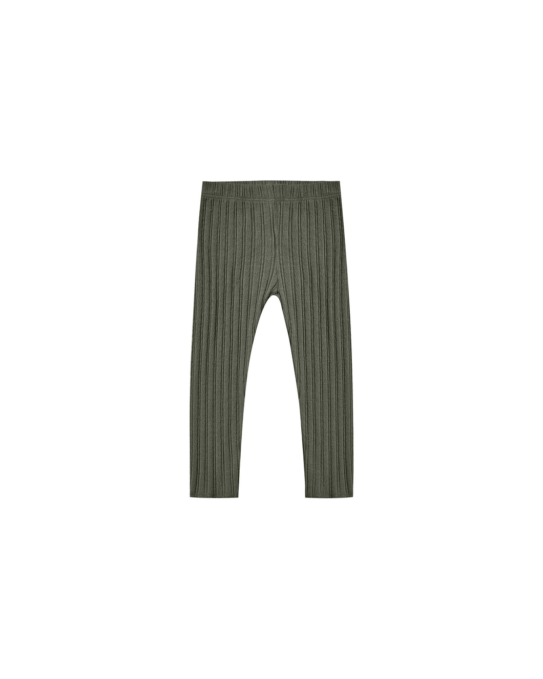 Rib knit legging - forest