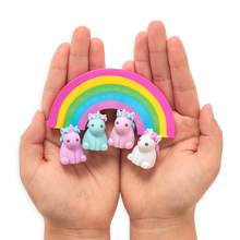 Load image into Gallery viewer, Unique unicorn strawberry scented erasers