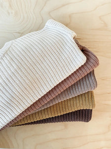 Knit sweater - chocolate