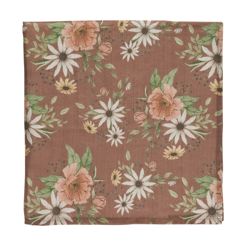 Spring blossom swaddle - clay