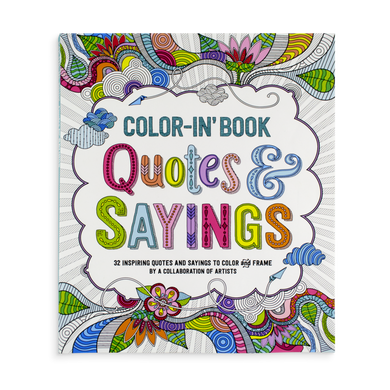 Color-in' book: Quotes and sayings