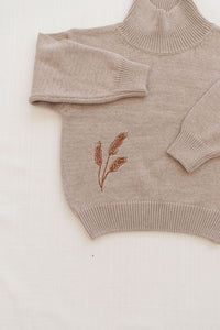 Fin & Vince wheat sweater - grey