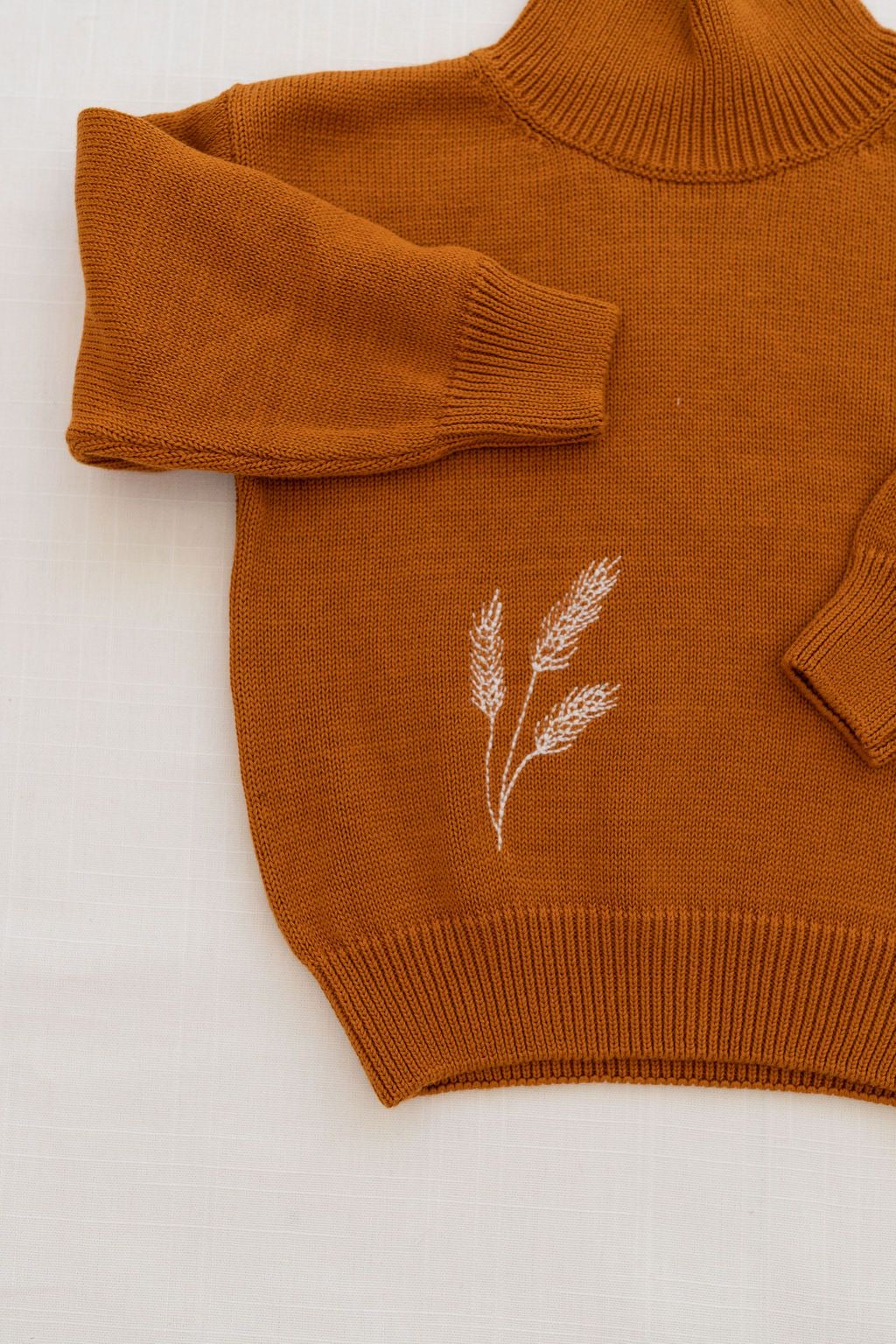 Fin & Vince wheat sweater - curry