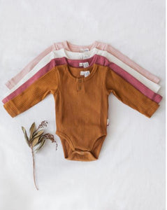 Willow cotton bodysuit - garden rose