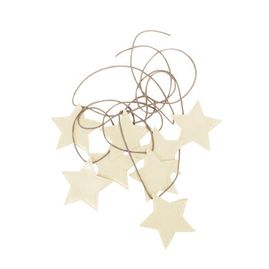 Star garland in ivory
