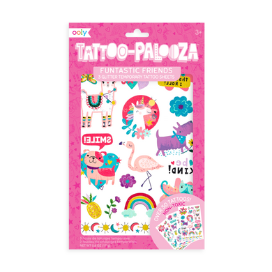 Temporary glitter tattoos - funtastic friends
