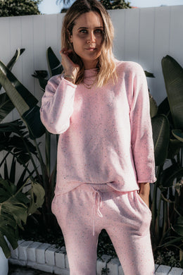 Mama knit jumper - light pink