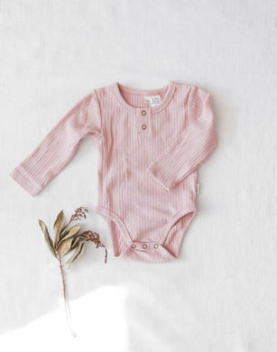 Willow cotton bodysuit - soft pink