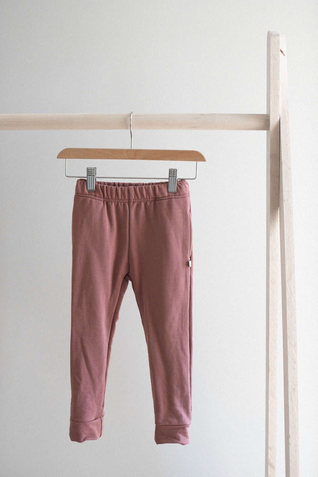 Fleece joggers - rose
